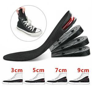 3cm 5cm 7cm 9cm Unisex Shoe Insert Taller Lift Height Up Increase Heel Insoles