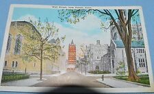 1936 Posted Postcard Wall Street  New Haven, Conn. Pub. by Harold Hahn HH