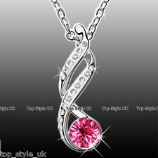 Infinity Diamond Necklace Pendant Jewellery Gift  4 Valentine Wife Girl Lady Mum