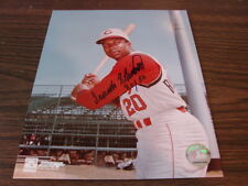 Frank Robinson Autograph / Signed 8 x 10 photo Cincinnati Reds ROY 56
