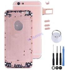 "COQUE CHASSIS ARRIERE ALUMINIUM KIT BOUTONS POUR IPHONE 6 4.7"" ROSE GOLD OR"