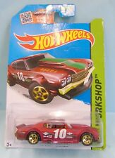 3128 HOT WHEELS / CARTE US / HW WORKSHOP 2013 / CHEVY CHEVELLE 1970 N°10 1/64