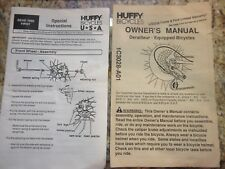 Huffy Bicycles Owner's Manual (2)1C3028-A01 & 1C3709-A01 Used