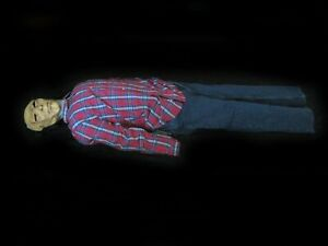 """Life Size Dead Man Corpse Blow Up Body Scary Zombie Halloween Party Prop 72"""""""