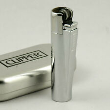 METAL CLIPPER LIGHTER SILVER MATT or SHINE LIMITED EDITION -NEW-