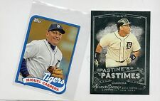 2-miguel cabrera detroit tigers 2014 topps '89 mini pastimes a+g insert card