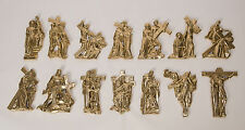 + Set of 14 Stations of the Cross +Solid Brass for Outdoor or Indoors+chalice co