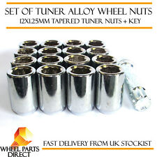 Set of 16 12x1.25mm 12x1.25 Tuner Drive Sparco SD Alloy Wheel Nuts Bolts + Key