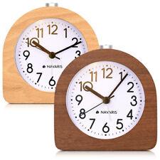 Réveil analogique classique - Horloge aiguilles alarme et snooze Navaris