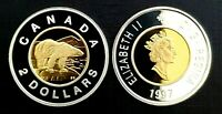 Canada 1997 Proof Gem Gold Plated Silver Toonie!!