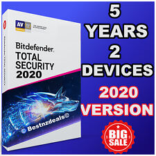 BITDEFENDER TOTAL SECURITY 2020 - 5 YEARS 2 DEVICE - DOWNLOAD