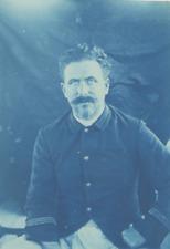 Madagascar, Portrait d'un officier français  Vintage print. cyanotype