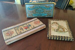 3 Antique Old Country Store Boxes Pasteboard Advertising American
