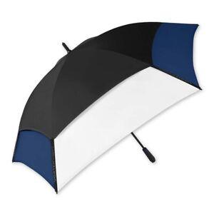 "The Indestructible Umbrella Black/White/Navy 62"" Fiberglass Golf Umbrella"