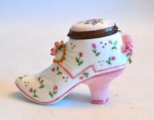 Chelsea Bonbonnieres Staffordshire Enamels Enamel Boot Trinket Box