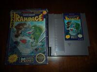 RAMPAGE FOR NINTENDO NES WITH ORIGINAL BOX