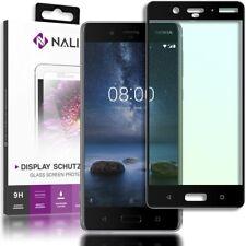 NALIA Schutzglas für Nokia 8, 9H Full Cover Handy Displayschutz Tempered Glass