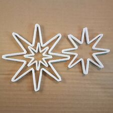 Star Sun Shape Cookie Cutter Dough Biscuit Pastry Xmas Christmas Sky Night North
