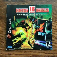 Eighteen 18 Wheeler American Pro Trucker Sega Dreamcast Instruction Manual Only
