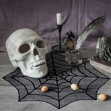 Lace Spider Web Table Topper Cobweb Fireplace Mantel Scarf Cloth Halloween Decor
