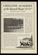 1924 Ursuline Academy of the Sacred Heart Middletown New York school print ad