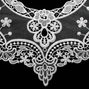 Flower Lace Retro Style Applique Removable Collar Bow Tie Type Solid Pattern New