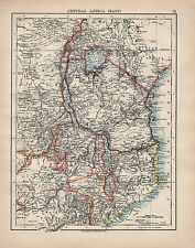 1902 MAP ~ CENTRAL AFRICA EAST ~ CONGO FREE STATE