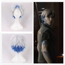 Ready Player One Watts Parzival White Gradient Short Hair Cosplay hair Wig+cap
