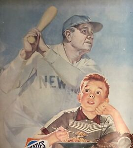 Vintage Print Ad Babe Ruth Baseball  Wheaties Betty Crocker