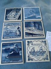 6 Different~ HOLLAND AMERICAN LINE SHIP TILE COASTERS
