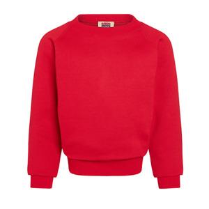 David Luke School Boys Girls Kids Sweatshirt Fleece Crew Neck Pullover (Red)