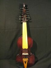 "Bird's eye 14"" SONG concert solo violin/ Viola d'Amore 7×7 strings #3976"
