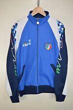 Vintage 1990 S ITALIE ITALIA RETRO Football Track Veste Survêtement Top rare XL