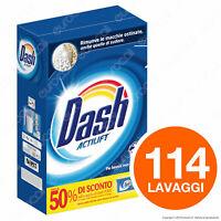 114 Lavaggi Dash Detersivo In Polvere Per Capi Bianchi - Confezione da 7,4Kg