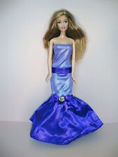 Purple Strapless Evening Gown Made to Fit Barbie Doll