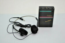 Working Environment FM Radio Receiver with Headphones Used