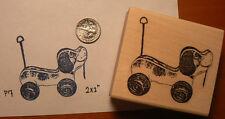 """P17  Vintage style puppy toy rubber stamp WM 2.5x2"""""""