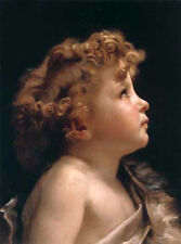 Nice Oil painting William-Adolphe Bouguereau - Young John the Baptist cute baby