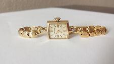 Ladies Vintage LONGINES Diamond  & 14K GOLD Bracelet Watch Diamonds