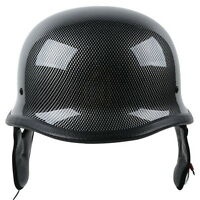 DOT Carbon Fiber WWII German Style Motorcycle Half Helmet M/L/XL For Cruiser ATV