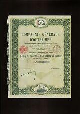 FRANCE MARITIME : Compagnie Generale d'Outre Mer Paris 1927