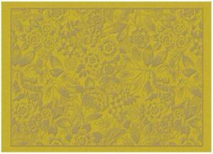Set of 4 Le Jacquard Francais Coated Placemats Osmose Florale Pollen 100% cotton