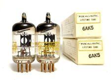 Matched Code NOS PAIR Mullard Mitcham Gold Pins 6AK5 E95F Tubes Little Dot -Rare
