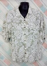 Breakwater XXL Mens Shirt Rayon Short Sleeve  Light Colored Leaf Floral      F34