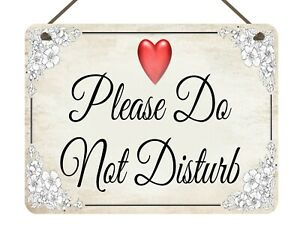 Metal Do Not Disturb Hanging Sign Hand Made Can be customised Gift Present Door