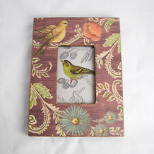 Kate McRostie McRastie Charming Birds Floral Picture Frame Tabletop Wall Hang