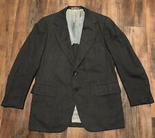 VTG Hickey Freeman & Son Naturalaire Dark Gray/Charcoal Wool Men's Suit • 42R