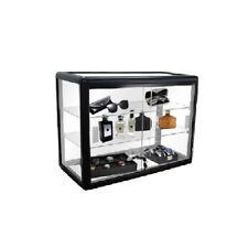 24 Aluminum Frame Counter Top Glass Showcase Black F 1301 B