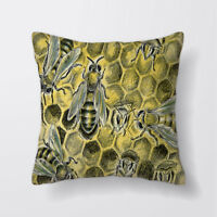 Bee Hive Honey Cushion Covers Pillow Cases Home Decor or Inner