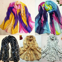 Gift Women Fashion Chinese Ink Style Wrap Lady Shawl Chiffon Scarf Scarves Fad